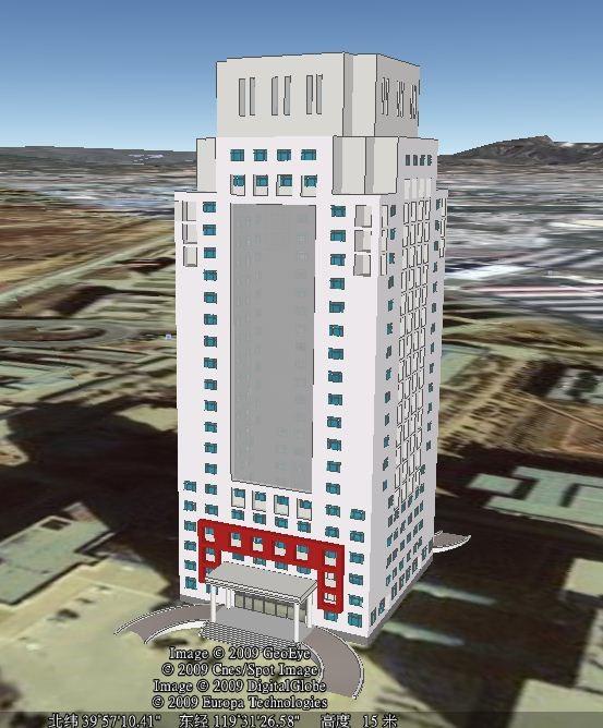 Google SketchUp 制作的世纪楼模型
