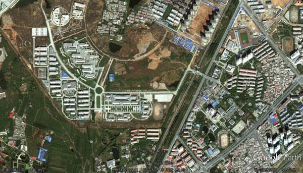 燕山大学Google地球俯视图